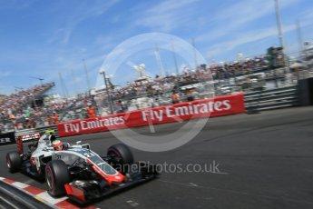 World © Octane Photographic Ltd. Haas F1 Team VF-16 - Esteban Gutierrez. Saturday 28th May 2016, F1 Monaco GP Qualifying, Monaco, Monte Carlo. Digital Ref :