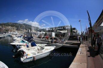 World © Octane Photographic Ltd. Yachts in the harbour. Wednesday 25th May 2016, F1 Monaco GP Paddock, Monaco, Monte Carlo. Digital Ref :1559CB5D5918