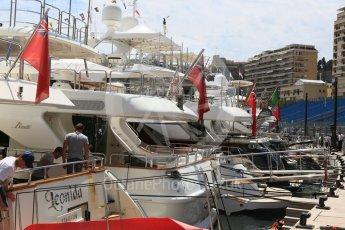 World © Octane Photographic Ltd. Yachts in the harbour. Wednesday 25th May 2016, F1 Monaco GP Paddock, Monaco, Monte Carlo. Digital Ref :1559CB5D5930