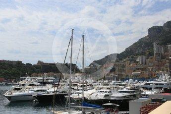 World © Octane Photographic Ltd. Yachts in the harbour. Wednesday 25th May 2016, F1 Monaco GP Paddock, Monaco, Monte Carlo. Digital Ref :1559CB5D5935