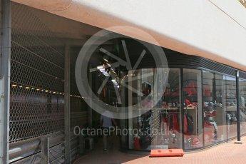 World © Octane Photographic Ltd. FIA Safety Car The famous Tabac memorabilia shop at the tunnel exit. Wednesday 25th May 2016, F1 Monaco GP Paddock, Monaco, Monte Carlo. Digital Ref :1559CB5D5947