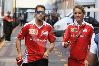 World © Octane Photographic Ltd. Scuderia Ferrari SF16-H – Sebastian Vettel. Wednesday 25th May 2016, F1 Monaco GP Paddock, Monaco, Monte Carlo. Digital Ref :1559CB7D0196
