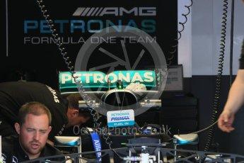 World © Octane Photographic Ltd. Mercedes AMG Petronas W07 Hybrid – rear wing. Wednesday 25th May 2016, F1 Monaco GP Paddock, Monaco, Monte Carlo. Digital Ref :1559CB7D9793