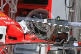 World © Octane Photographic Ltd. Scuderia Ferrari SF16-H – front wing. Wednesday 25th May 2016, F1 Monaco GP Paddock, Monaco, Monte Carlo. Digital Ref :1559CB7D9815