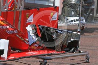 World © Octane Photographic Ltd. Scuderia Ferrari SF16-H – front wing. Wednesday 25th May 2016, F1 Monaco GP Paddock, Monaco, Monte Carlo. Digital Ref :1559CB7D9817