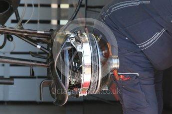 World © Octane Photographic Ltd. Scuderia Toro Rosso STR11 – front suspension and brakes. Wednesday 25th May 2016, F1 Monaco GP Paddock, Monaco, Monte Carlo. Digital Ref :1559CB7D9896