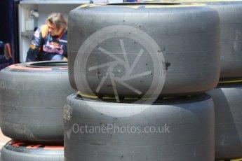 World © Octane Photographic Ltd. Pirelli Soft and Supersoft tyres. Wednesday 25th May 2016, F1 Monaco GP Paddock, Monaco, Monte Carlo. Digital Ref :1559CB7D9965