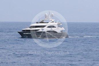 World © Octane Photographic Ltd. Yacht approaching the harbour. Wednesday 25th May 2016, F1 Monaco GP Paddock, Monaco, Monte Carlo. Digital Ref :1559CB7D9985