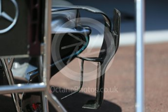 World © Octane Photographic Ltd. Mercedes AMG Petronas W07 Hybrid – turning vanes. Wednesday 25th May 2016, F1 Monaco GP Paddock, Monaco, Monte Carlo. Digital Ref :1559LB1D4140
