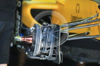 World © Octane Photographic Ltd. Renault Sport F1 Team RS16 - Front brakes. Wednesday 25th May 2016, F1 Monaco GP Paddock, Monaco, Monte Carlo. Digital Ref :1559LB1D4269