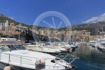 World © Octane Photographic Ltd. Yachts in the harbour. Wednesday 25th May 2016, F1 Monaco GP Paddock, Monaco, Monte Carlo. Digital Ref :1559LB1L6469