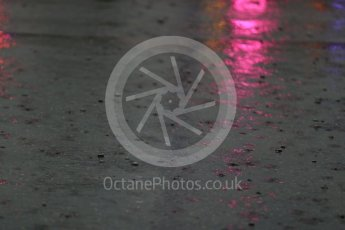 World © Octane Photographic Ltd. Rain in the F1 Monaco Paddock. Sunday 29th May 2016, F1 Monaco GP Paddock, Monaco, Monte Carlo. Digital Ref : 1572LB1D0962