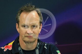 World © Octane Photographic Ltd. F1 Monaco GP FIA Team Personnel Press Conference, Monaco, Monte Carlo, Thursday 26th May 2016. Red Bull Racing Chief Engineer (Car Engineering) - Paul Monaghan. Digital Ref : 1563LB1D7917