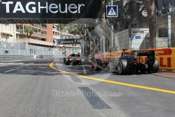 World © Octane Photographic Ltd. Rapax - GP2/11 – Arthur Pic leaves the pits. Friday 27th May 2016, GP2 Race 1, Monaco, Monte Carlo. Digital Ref :1566CB1D7735