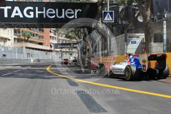 World © Octane Photographic Ltd. MP Motorsport - GP2/11 – Oliver Rowland leaves the pits. Friday 27th May 2016, GP2 Race 1, Monaco, Monte Carlo. Digital Ref :1566CB1D7741