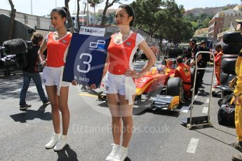 World © Octane Photographic Ltd. Racing Engineering - GP2/11 – Norman Nato on the grid in 2nd position with his TAG Heuer grid girls. Friday 27th May 2016, GP2 Race 1, Monaco, Monte Carlo. Digital Ref :1566CB1D7768