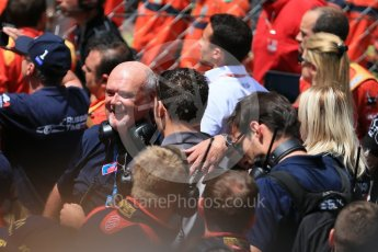 World © Octane Photographic Ltd. Russian Time celebrating Artem Markelov's win. Friday 27th May 2016, GP2 Race 1 parc ferme, Monaco, Monte Carlo. Digital Ref :1566CB1D8782