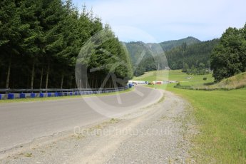 World © Octane Photographic Ltd. West loop of the old Osterreichring circuit - The old Flatschach series of sweeping curves leading into the Dr.Tiroch Kurve. Thursday 30th June 2016, F1 Austrian GP, Red Bull Ring, Spielberg, Austria. Digital Ref : 1597CB5D2456