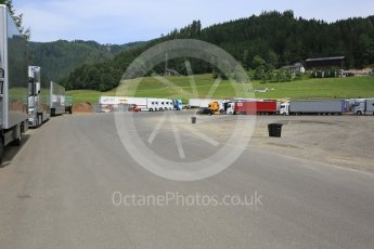 World © Octane Photographic Ltd. West loop of the old Osterreichring circuit - The old Dr.Tiroch Kurve now used as a truck park. Thursday 30th June 2016, F1 Austrian GP, Red Bull Ring, Spielberg, Austria. Digital Ref : 1597CB5D2460