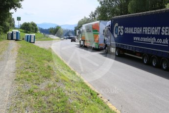 World © Octane Photographic Ltd. West loop of the old Osterreichring circuit - The old Dr.Tiroch Kurve now used as a truck park. Thursday 30th June 2016, F1 Austrian GP, Red Bull Ring, Spielberg, Austria. Digital Ref : 1597CB5D2470