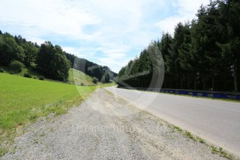 World © Octane Photographic Ltd. West loop of the old Osterreichring circuit - Looking back down the old Flatschach series of sweeping curves. Thursday 30th June 2016, F1 Austrian GP, Red Bull Ring, Spielberg, Austria. Digital Ref : 1597CB5D2485