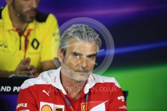 World © Octane Photographic Ltd. F1 Singapore GP FIA Personnel Press Conference, Marina Bay Circuit, Singapore. Friday 16th September 2016. Maurizio Arrivabene – Team Principal Scuderia Ferrari. Digital Ref : 1718LB1D0174