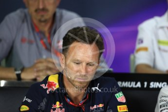 World © Octane Photographic Ltd. F1 Singapore GP FIA Personnel Press Conference, Marina Bay Circuit, Singapore. Friday 16th September 2016. Christian Horner – Team Principal Red Bull Racing. Digital Ref : 1718LB1D0179