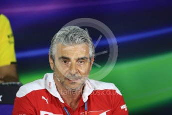 World © Octane Photographic Ltd. F1 Singapore GP FIA Personnel Press Conference, Marina Bay Circuit, Singapore. Friday 16th September 2016. Maurizio Arrivabene – Team Principal Scuderia Ferrari. Digital Ref : 1718LB1D0210