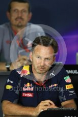 World © Octane Photographic Ltd. F1 Singapore GP FIA Personnel Press Conference, Marina Bay Circuit, Singapore. Friday 16th September 2016. Christian Horner – Team Principal Red Bull Racing. Digital Ref : 1718LB1D0259
