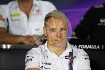 World © Octane Photographic Ltd. F1 Singapore GP FIA Drivers' Press Conference, Marina Bay Circuit, Singapore. Thursday 15th September 2016. Williams Martini Racing – Valtteri Bottas. Digital Ref :1714LB1D8859