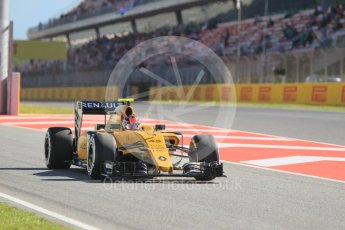 World © Octane Photographic Ltd. Renault Sport F1 Team RS16 Reserve Driver – Esteban Ocon. Friday 13th May 2016, F1 Spanish GP - Practice 1, Circuit de Barcelona Catalunya, Spain. Digital Ref : 1536CB1D6856
