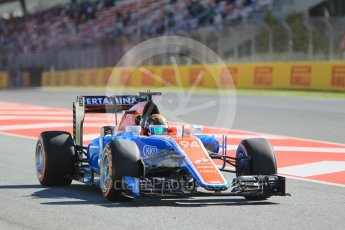 World © Octane Photographic Ltd. Manor Racing MRT05 - Pascal Wehrlein. Friday 13th May 2016, F1 Spanish GP - Practice 1, Circuit de Barcelona Catalunya, Spain. Digital Ref : 1536CB1D6874