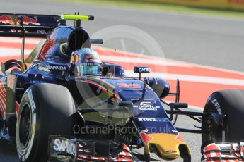 World © Octane Photographic Ltd. Scuderia Toro Rosso STR11 – Carlos Sainz. Friday 13th May 2016, F1 Spanish GP - Practice 1, Circuit de Barcelona Catalunya, Spain. Digital Ref : 1536CB1D6976