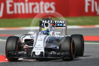World © Octane Photographic Ltd. Williams Martini Racing, Williams Mercedes FW38 – Felipe Massa. Friday 13th May 2016, F1 Spanish GP - Practice 1, Circuit de Barcelona Catalunya, Spain. Digital Ref : 1536LB1D3908
