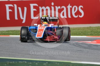 World © Octane Photographic Ltd. Manor Racing MRT05 – Rio Haryanto. Friday 13th May 2016, F1 Spanish GP - Practice 1, Circuit de Barcelona Catalunya, Spain. Digital Ref : 1536LB1D3917