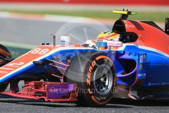 World © Octane Photographic Ltd. Manor Racing MRT05 – Rio Haryanto. Friday 13th May 2016, F1 Spanish GP - Practice 1, Circuit de Barcelona Catalunya, Spain. Digital Ref : 1536LB1D3926