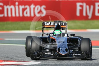 World © Octane Photographic Ltd. Sahara Force India VJM09 - Nico Hulkenberg. Friday 13th May 2016, F1 Spanish GP - Practice 1, Circuit de Barcelona Catalunya, Spain. Digital Ref : 1536LB1D3936