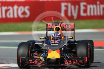World © Octane Photographic Ltd. Red Bull Racing RB12 – Daniel Ricciardo. Friday 13th May 2016, F1 Spanish GP - Practice 1, Circuit de Barcelona Catalunya, Spain. Digital Ref : 1536LB1D4054