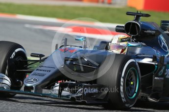 World © Octane Photographic Ltd. Mercedes AMG Petronas W07 Hybrid – Lewis Hamilton. Friday 13th May 2016, F1 Spanish GP - Practice 1, Circuit de Barcelona Catalunya, Spain. Digital Ref : 1536LB1D4080