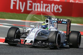 World © Octane Photographic Ltd. Williams Martini Racing, Williams Mercedes FW38 – Felipe Massa. Friday 13th May 2016, F1 Spanish GP - Practice 1, Circuit de Barcelona Catalunya, Spain. Digital Ref : 1536LB1D4257