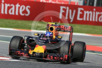 World © Octane Photographic Ltd. Red Bull Racing RB12 – Max Verstappen. Friday 13th May 2016, F1 Spanish GP - Practice 1, Circuit de Barcelona Catalunya, Spain. Digital Ref : 1536LB1D4354