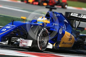 World © Octane Photographic Ltd. Sauber F1 Team C35 – Marcus Ericsson. Friday 13th May 2016, F1 Spanish GP - Practice 1, Circuit de Barcelona Catalunya, Spain. Digital Ref : 1536LB1D4460