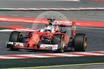 World © Octane Photographic Ltd. Scuderia Ferrari SF16-H – Sebastian Vettel. Friday 13th May 2016, F1 Spanish GP - Practice 1, Circuit de Barcelona Catalunya, Spain. Digital Ref : 1536LB1D4565
