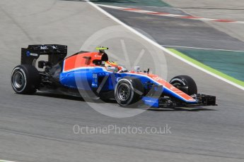 World © Octane Photographic Ltd. Manor Racing MRT05 – Rio Haryanto. Friday 13th May 2016, F1 Spanish GP Practice 1, Circuit de Barcelona Catalunya, Spain. Digital Ref : 1539CB1D8029