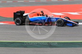 World © Octane Photographic Ltd. Manor Racing MRT05 - Pascal Wehrlein. Friday 13th May 2016, F1 Spanish GP - Practice 2, Circuit de Barcelona Catalunya, Spain. Digital Ref : 1539CB1D8128