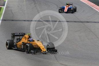 World © Octane Photographic Ltd. Renault Sport F1 Team RS16 – Jolyon Palmer. Friday 13th May 2016, F1 Spanish GP - Practice 2, Circuit de Barcelona Catalunya, Spain. Digital Ref : 1539CB1D8242