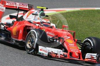World © Octane Photographic Ltd. Scuderia Ferrari SF16-H – Kimi Raikkonen. Friday 13th May 2016, F1 Spanish GP Practice 2, Circuit de Barcelona Catalunya, Spain. Digital Ref : 1539LB1D4781