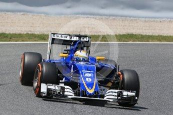 World © Octane Photographic Ltd. Sauber F1 Team C35 – Marcus Ericsson. Friday 13th May 2016, F1 Spanish GP Practice 2, Circuit de Barcelona Catalunya, Spain. Digital Ref : 1539LB1D4851