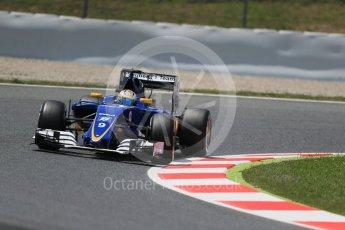World © Octane Photographic Ltd. Sauber F1 Team C35 – Marcus Ericsson. Friday 13th May 2016, F1 Spanish GP Practice 2, Circuit de Barcelona Catalunya, Spain. Digital Ref : 1539LB1D5243