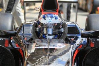 World © Octane Photographic Ltd. Rapax - GP2/11 – Gustav Malja. Friday 13th May 2016, GP2 Practice, Circuit de Barcelona Catalunya, Spain. Digital Ref :1538CB1D7847
